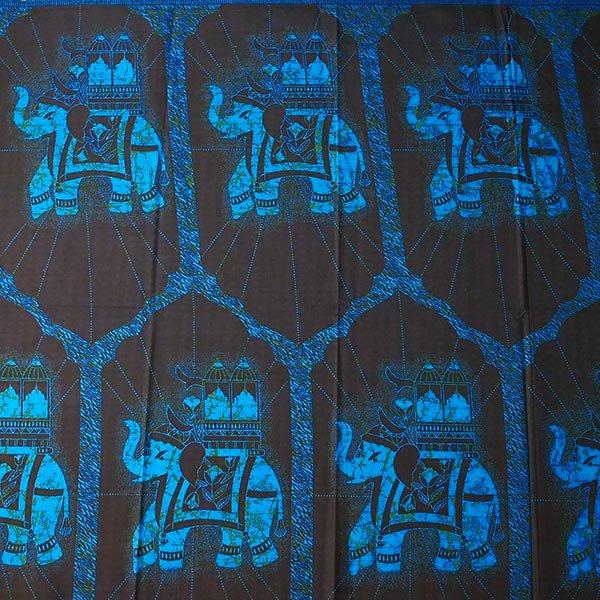 アフリカン プリント布 キテンゲ 105×100 カットオフ(国王の乗り物)【画像3】