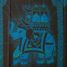 アニマル・生き物 柄 アフリカン プリント布 キテンゲ 105×100 カットオフ(国王の乗り物)