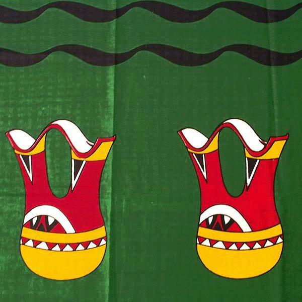 アフリカン プリント布 キテンゲ 105×100 カットオフ (壺と水瓶 2色)【画像2】