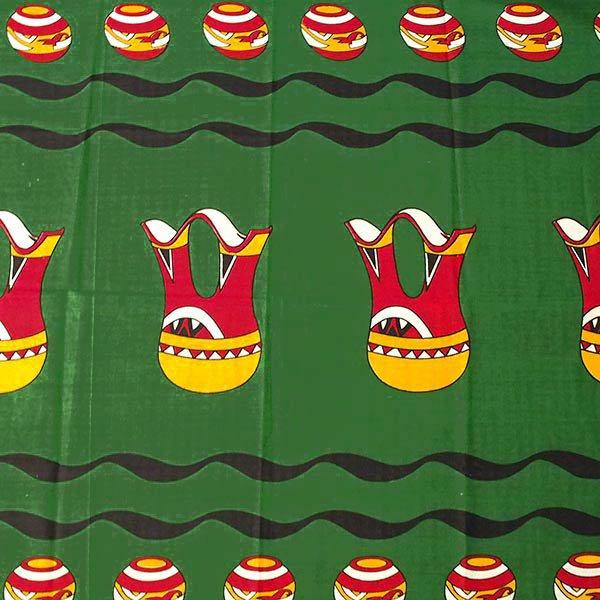 アフリカン プリント布 キテンゲ 105×100 カットオフ (壺と水瓶 2色)【画像3】