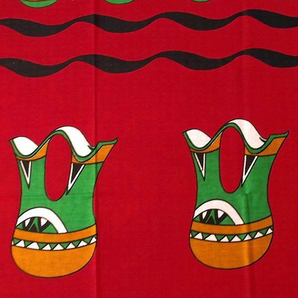 アフリカン プリント布 キテンゲ 105×100 カットオフ (壺と水瓶 2色)【画像4】