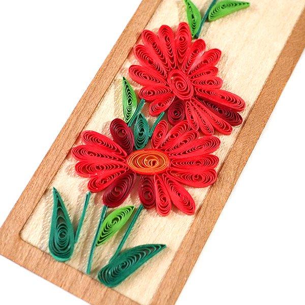 ベトナム クイリング お花の栞(デイジー)
