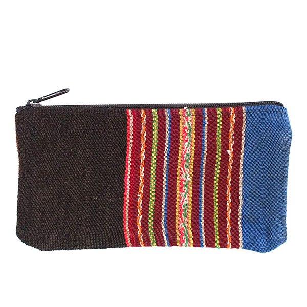 ペルー マンタ古布 長財布(ブルー系)