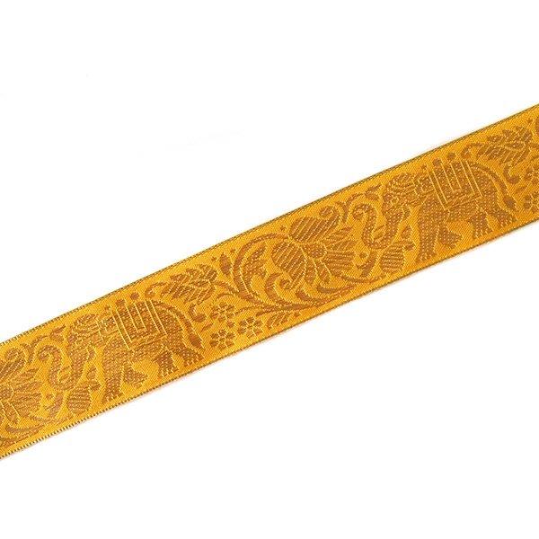インド チロリアンテープ 蓮(ハス)とゾウ 3色 手芸(幅4cm/1m単位売り)【画像2】