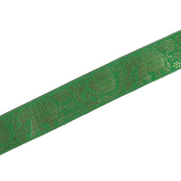 インド チロリアンテープ 蓮(ハス)とゾウ 3色 手芸(幅4cm/1m単位売り)【画像3】