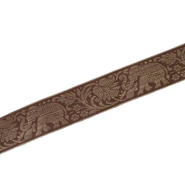 インド チロリアンテープ 蓮(ハス)とゾウ 3色 手芸(幅4cm/1m単位売り)【画像4】