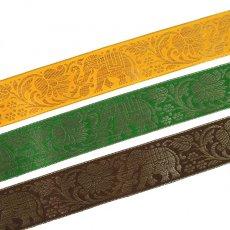 インド チロリアンテープ 蓮の花(ロータス)ゾウ 3色 (幅4cm/1m単位売り)