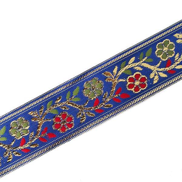 インド チロリアンテープ 花 刺繍 6色 (幅4cm/1m単位売り)【画像3】