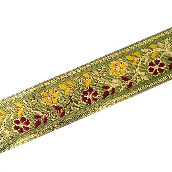 インド チロリアンテープ 花 刺繍 6色 (幅4cm/1m単位売り)【画像7】