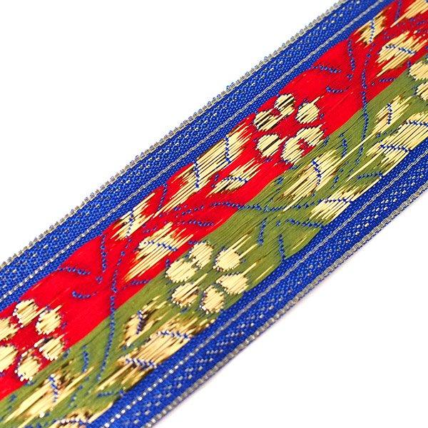 インド チロリアンテープ 花 刺繍 6色 (幅4cm/1m単位売り)【画像8】