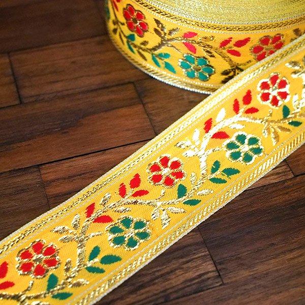 インド チロリアンテープ 花 刺繍 6色 (幅4cm/1m単位売り)【画像10】