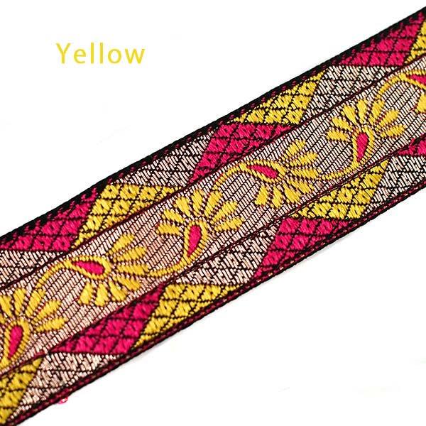 インド 小花柄 チロリアンテープ(ピンク 幅3cm)