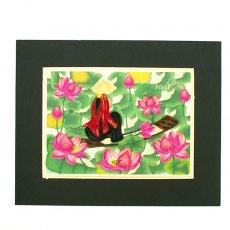Quilling Art (クイリング アート) ベトナム クイリングアート 【Quilling art】20×25 蓮を摘む