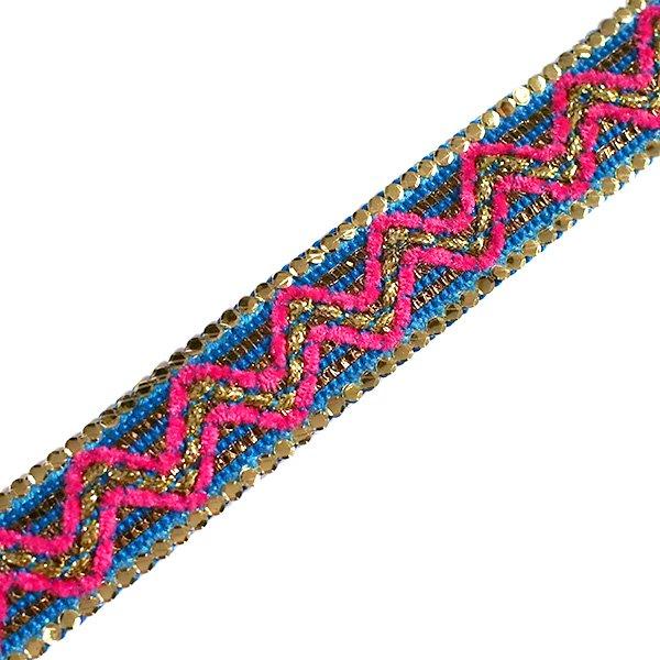 インド チロリアンテープ スパンコール 模様 2色 手芸(幅2cm/1m単位売り)【画像2】