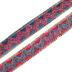 インド チロリアンテープ スパンコール 模様 2色 手芸(幅2cm/1m単位売り)