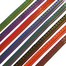 ハンドメイド素材 インド チロリアンテープ 全8色(模様 幅1cm)