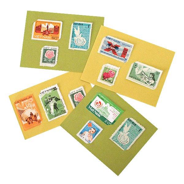 ベトナム かわいい切手(3枚セット)