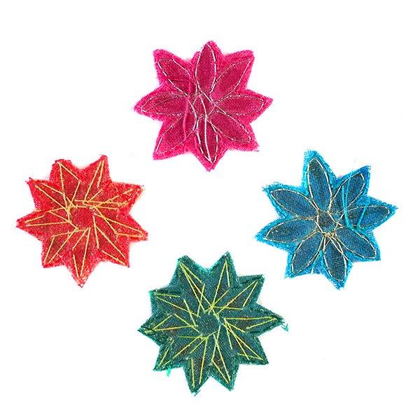 インド 刺繍ワッペン(花  4色)【画像2】