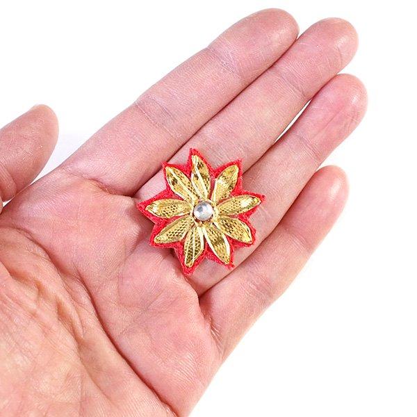 インド  お花の刺繍アップリケ