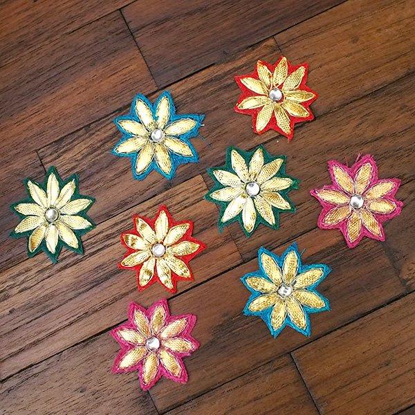 インド 刺繍ワッペン(花  4色)【画像4】