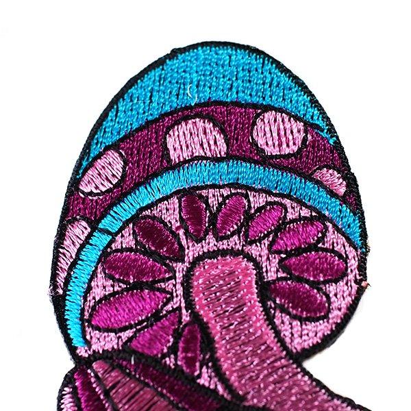 インド 刺繍 ワッペン(キノコ)【画像3】