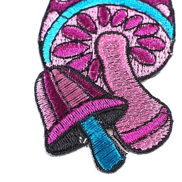 インド 刺繍 ワッペン(キノコ)【画像4】