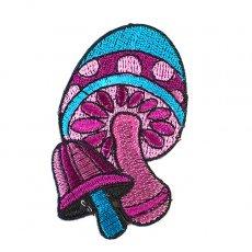ワッペン インド 刺繍 ワッペン(キノコ)