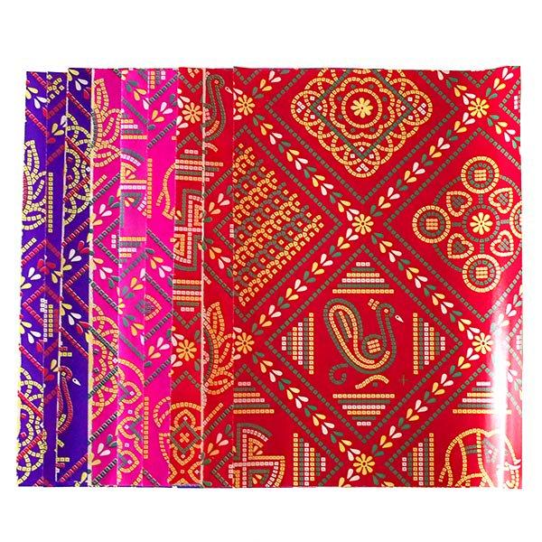 インド  包装紙(アソート9枚)