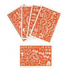 インド chimanlals(チマンラール)ワルリー画 メッセージカード(封筒付き)