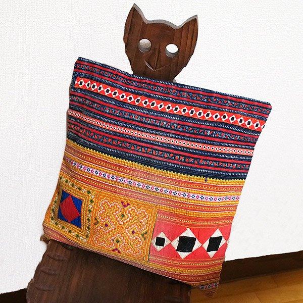 タイ モン族 刺繍 クッションカバー(A)【画像6】