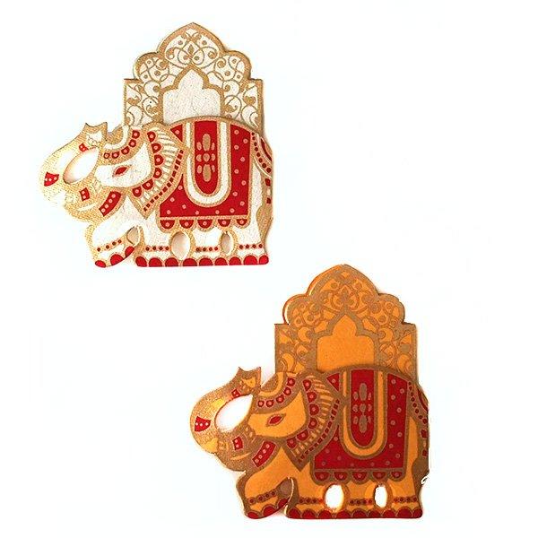 インド  chimanlals ゾウのギフトタグ