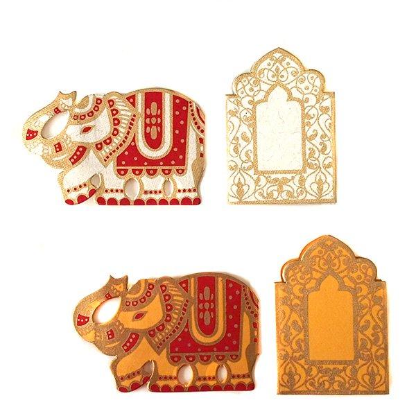 インド  chimanlals (チマンラール)ゾウ メッセージカード【画像4】