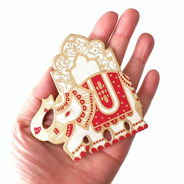 インド  chimanlals (チマンラール)ゾウ メッセージカード【画像5】