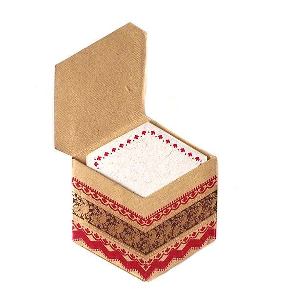 インド  chimanlals (チマンラール)ペイズリーとトリ 六角形 メッセージカード A( 封筒なし)【画像6】