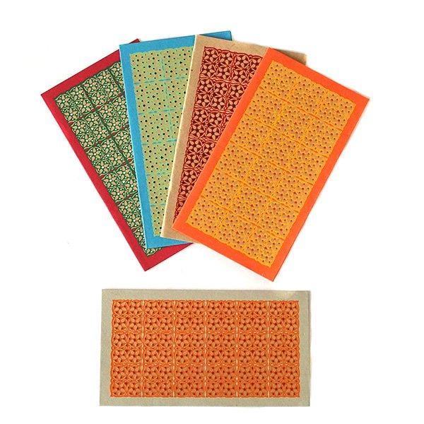 インド  chimanlals(チマンラール)小花 メッセージカード(封筒付き)