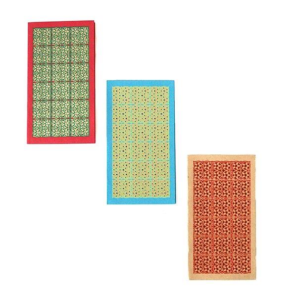 インド  chimanlals(チマンラール)小花 メッセージカード(封筒付き)【画像2】
