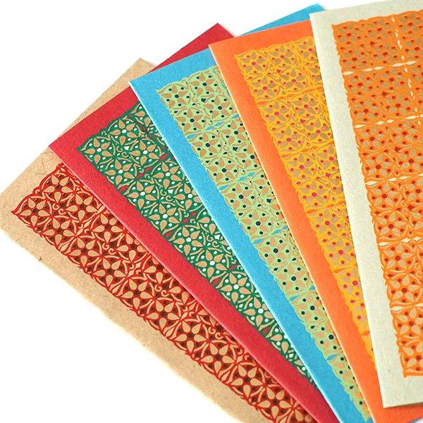 インド  chimanlals(チマンラール)小花 メッセージカード(封筒付き)【画像5】