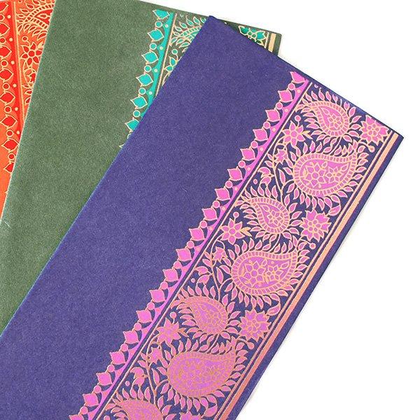 インド chimanlals(チマンラール)の封筒 植物とペイズリー【画像5】