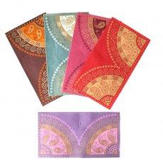 茶・ブラウン 雑貨 インド chimanlals(チマンラール)封筒 BANDHEJ ペイズリー A