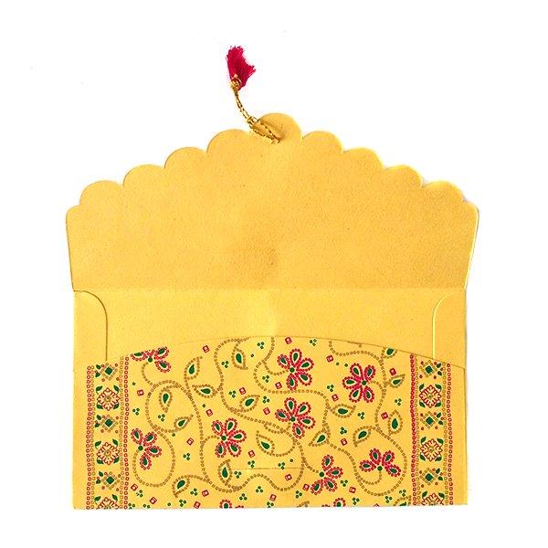 インド chimanlalsの封筒(お花柄B)