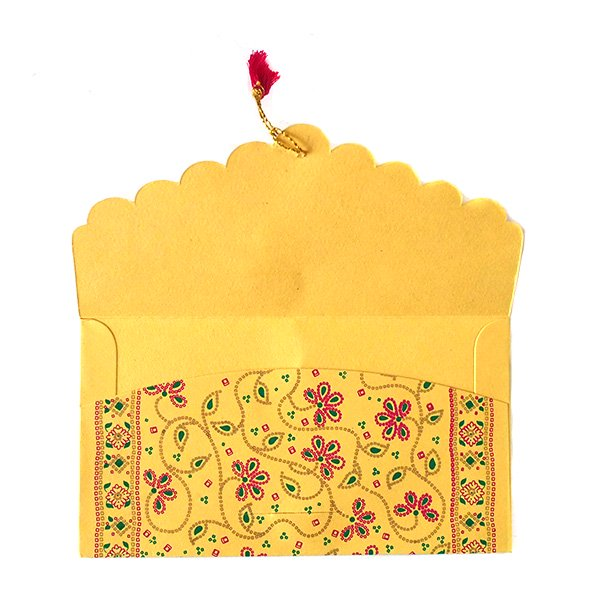 インド chimanlals(チマンラール)の封筒 花柄B【画像6】