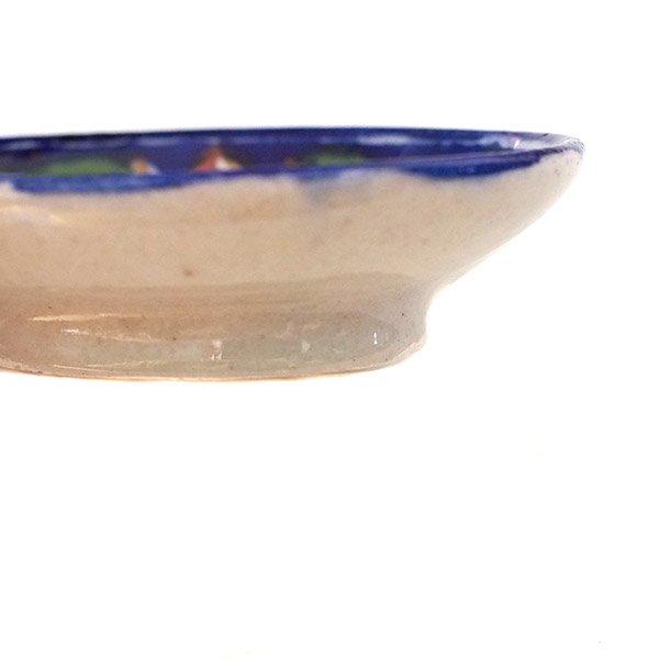 インド   ジャイプール陶器 ブルーポッタリー ソープディッシュ【画像7】