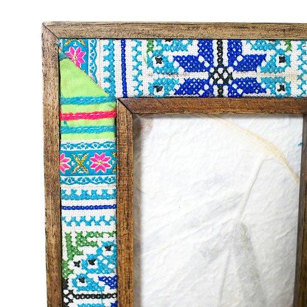 タイ モン族刺繍 布 フォトフレーム【画像2】