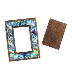掘り出し物セール  タイ モン族刺繍 布 フォトフレーム