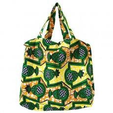 世界に繋がるお買い物 マリ 巾着 エコバッグ(パイナップル)