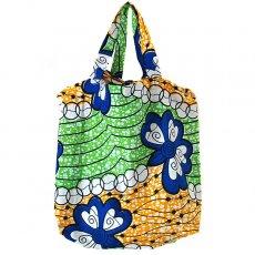 世界に繋がるお買い物 マリ 足踏みミシンで仕立てた パーニュ 巾着 エコバッグ(バタフライ)