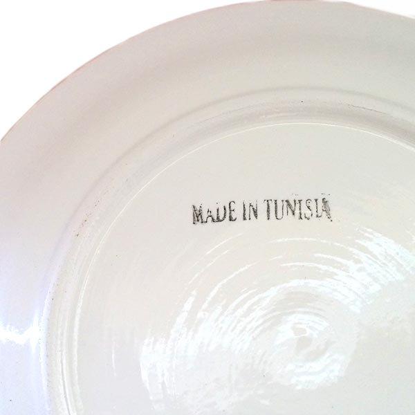チュニジア SLAMA製 手描き 皿(レッド 24cm)【画像3】