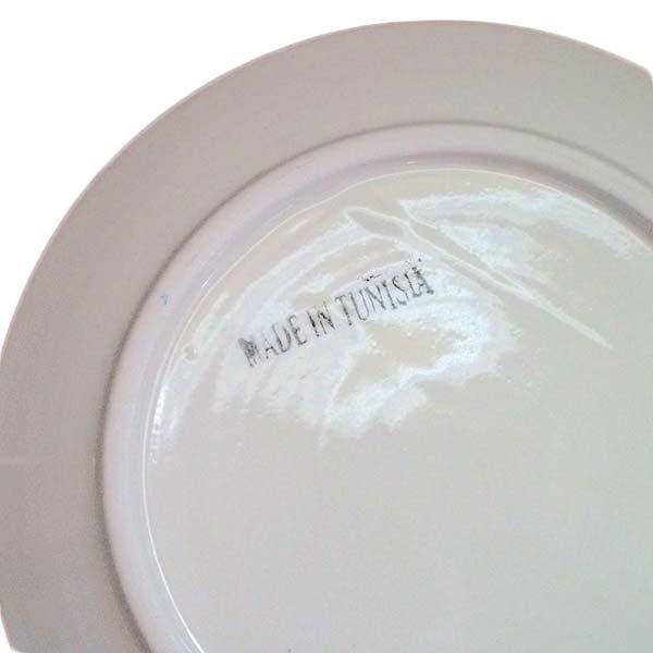 チュニジア SLAMA製 手描き 皿(ブルー 20cm)【画像3】