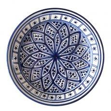 チュニジア SLAMA製 手描き 皿(ブルー 20cm)