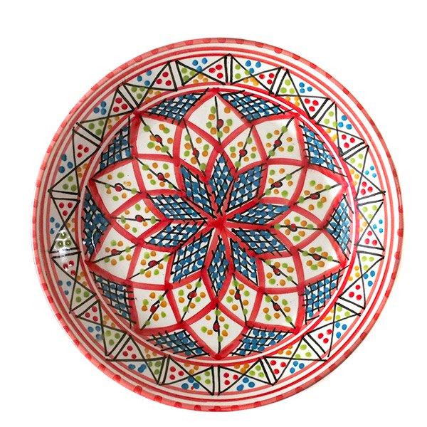 チュニジア お皿(レッド 20cm)